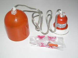 Dispositif-Luminaire-Classe-II-Orange-230-V-50-Hz-Ampoule-E-27-Max-60-W-NEUF
