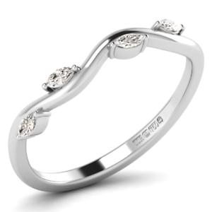 0.20 carat Marquise Cut Half Eternity Ring Available, 950Platinum