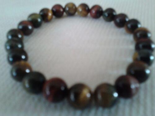 diamètre perles 6 mm extensible. Bracelet en perles d/' oeil de tigre 1 rang