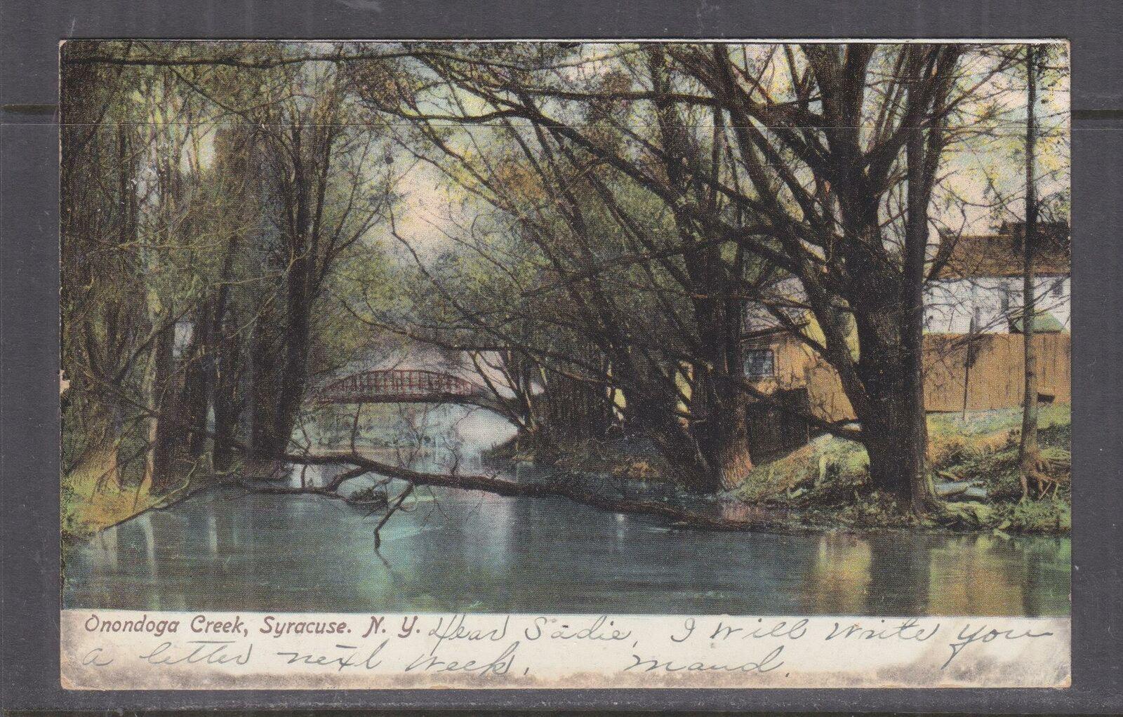 UNITED STATES, 1907 ppc. Syracuse, NY, Onondoga Creek, 1c. to Clyde, NY.