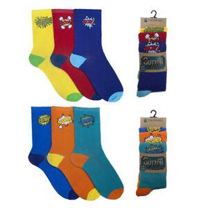 Mens-3-pack-Comic-Book-Sound-Effects-Graphics-Logo-Socks