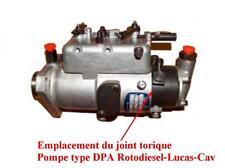 Joint torique tête hydrauique pompe à injection ROTODIESEL CAV LUCAS type DPA