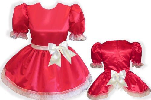 """/""""Anjanette/"""" Custom Fit OPEN BACK SATIN Adult Baby Sissy LG Dress LEANNE"""