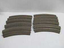 MES-49499Roco Line H0 10 St. Gleise mit Bettung mit Gebrauchsspuren,
