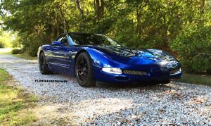New C7 Z06 Corvette Wheels Satin Black 17 18 Fits 1997 2004 C5