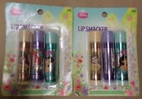 Lip Smacker Disney Princess Lip Balm 3 Pack Each Berry Flavor Lot Of 2 Brand on sale