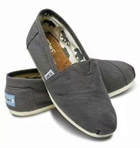 Women-039-s-Shoes-TOMS-CLASSICS-Casual-Slip-On-Canvas-Loafer-001001B07-ASH-GREY