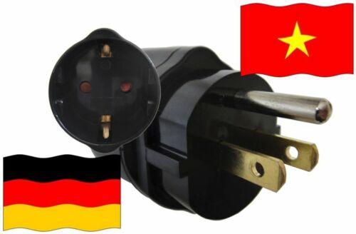 Vacances Adaptateur vietnam pour les appareils d/'Allemagne voyage Adaptateur travel 3 broches