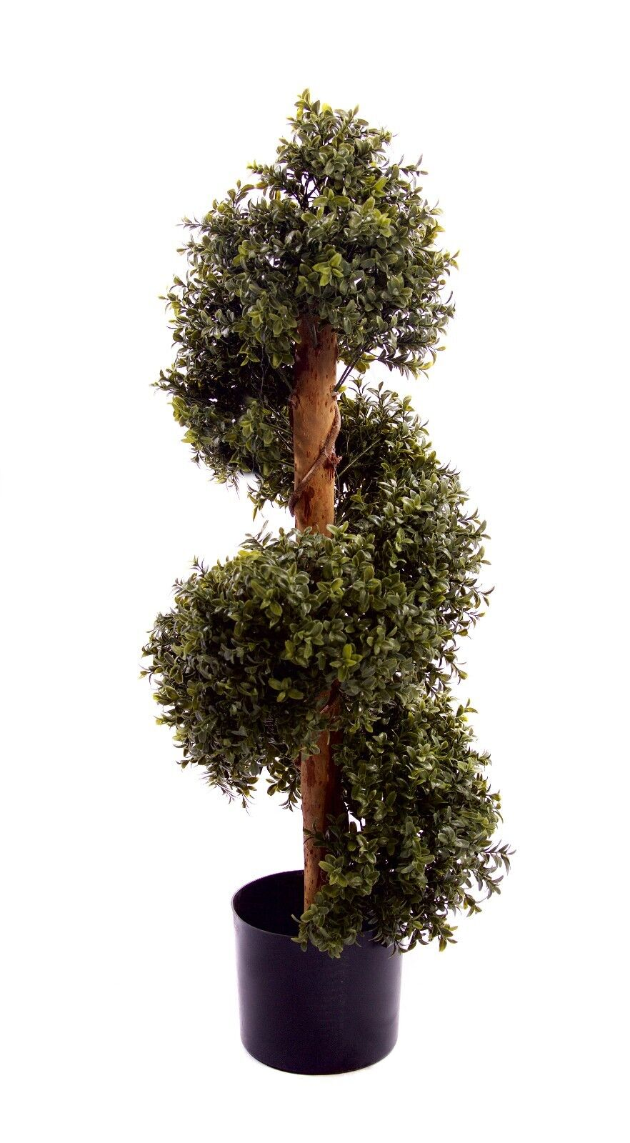 Best Artificial NATURAL Look 3ft 90cm BOXWOOD Topiary SPIRAL Wood Outdoor TREE