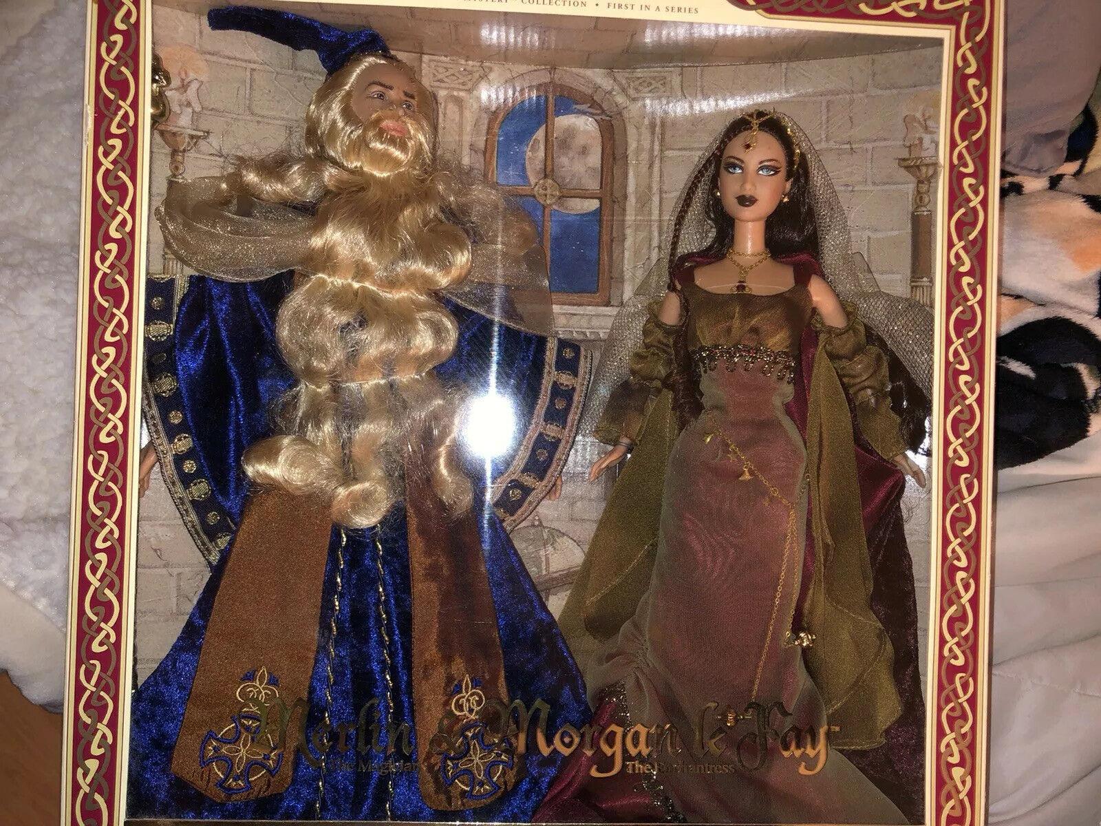 MERLIN & MORGAN LE FAY Barbie & Ken Doll Gift Set 27287