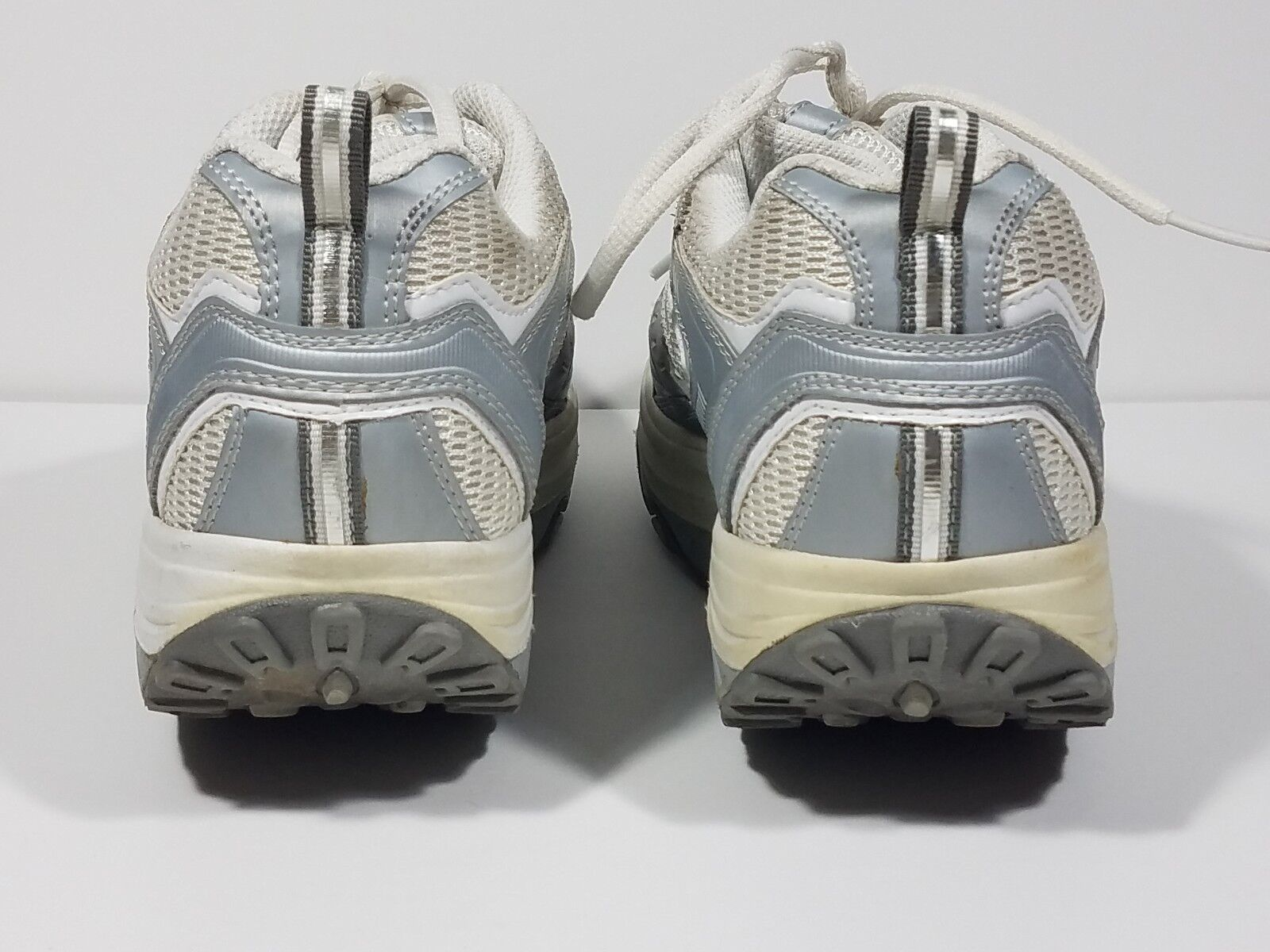Skechers Shape-Ups Weiß silver lace up athletic 8 fitness walking schuhe ladies 8 athletic 6f8b28