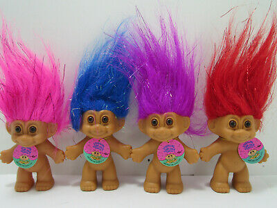 """GOOD LUCK Russ Troll Doll BINGO SPARKLE  3/"""" NEW With ORIGINAL WRAPPER Lot of 3"""