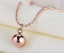 New-18K-Rose-Gold-Filled-Women-Round-Ball-Beads-pendant-Charm-Necklace-12mm-6mm thumbnail 6