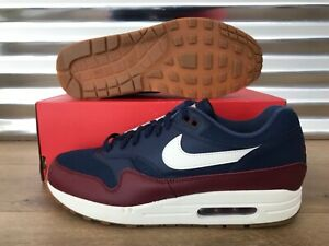 hot product amazing price where can i buy Details about Nike Air Max 1 Running Shoes Navy Blue Sail Team Red SZ (  AH8145-400 )