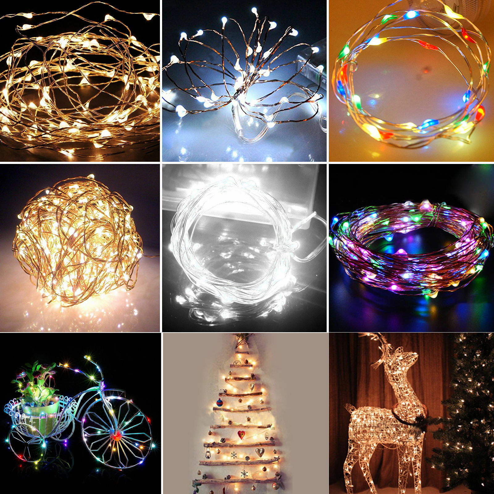 String Lights With Battery: 2/34m Micro LED Battery Operated String Lights Silver