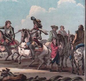 Gravure-XVIIIe-De-Salignac-De-La-Mothe-Fenelon-Terres-De-Cambrai-Duc-Marlborough