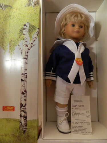 42 cm 1987 Steiff Puppe Bernd 9210/42 Nr Stoffpuppe