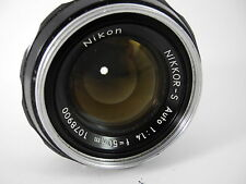 NIKON NIKKOR S 50/1.4 AI LENS PERFECT GLASS SHOWS WEAR ON THE BARREL VERY SHARP