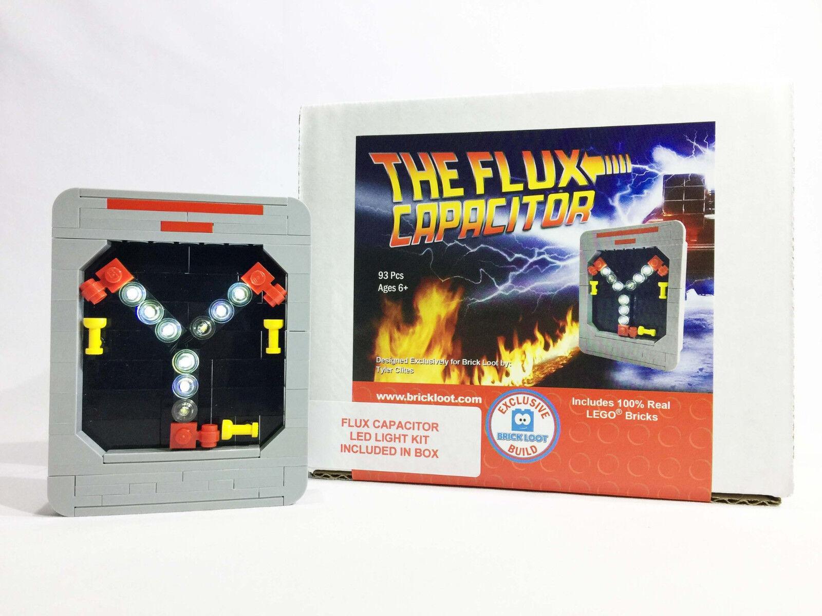 Exclusive Brique Butin LEGO Condensateur De Flux Avec Lumière DEL Kit