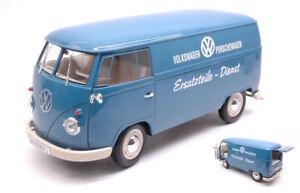 Volkswagen-VW-T1-Bus-1963-Panel-Van-034-VOLKSWAGEN-PORSCHEWAGEN-034-1-18-Model-WELLY