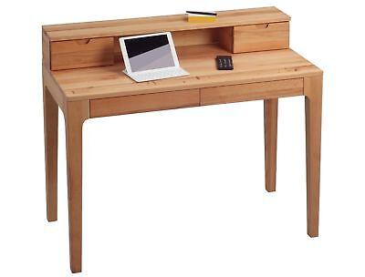 Paolo Trendmarkierung Schreibtisch Bürotisch Sekretär 110 X 55 Cm Kernbuche Massiv Geölt