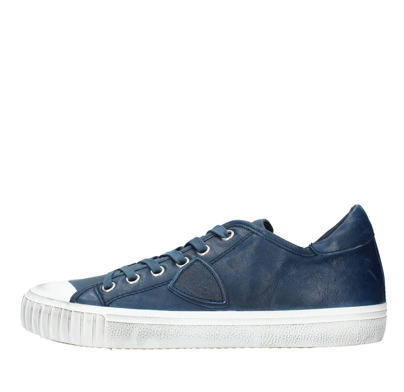 AMF119_PMOD Scarpe scarpe da ginnastica PHILIPPE MODEL uomo Blu