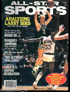 All-Star-Sports-March-1984-Boston-Celtics-Larry-Bird-No-Label-Exc-Illustrated