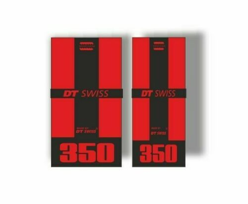 DT Swiss 350 Bicycle Hub Decal Road MTB Sticker Adhesive Set Red 2 Pcs