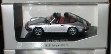 1:43 PORSCHE 911 Targa silber silver Innen:red rot MINICHAMPS History Collection