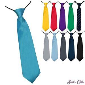 Jungen-Krawatte-27-cm-vorgebunden-Seiden-Look-Hochzeit-Kommunion-Jugendweihe