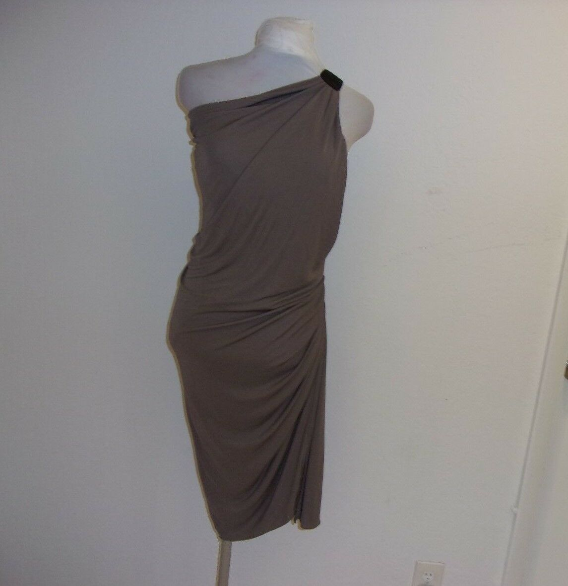 CUT 25 BY YIGAL AZROUEL TAUPE damen ONE SHOULDER DRESS Größe 0 - 2  NWT