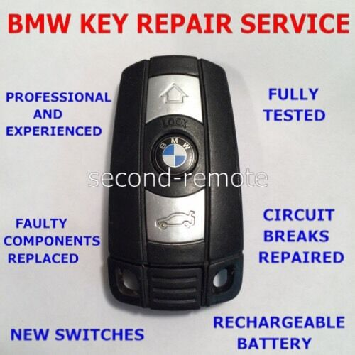 REPAIR FIX SERVICE-BMW REMOTE KEY FOBS- 1,2,3,5 SERIES,E46,E60,E90,E92 ETC