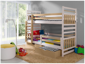 Etagenbett Unten Doppelbett : Holz puppen etagenbett puppenmöbel spielzeug peitz