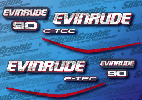 Evinrude 90 HP Decal Motor Outboard