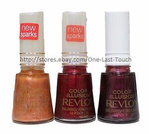 REVLON-Nail-Polish-Enamel-COLOR-ILLUSION-Limited-Edition-RARE-New-YOU-CHOOSE