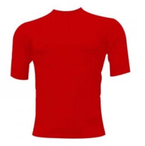 Rash guard Rash Vest Red MMA Martial Arts BJJ Running Short Sleeves