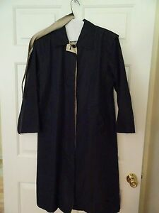 WHALING-MADE-IN-USA-LADIES-SIZE-12P-NAVY-LIGHTWEIGHT-BELTED-RAINCOAT-LKN