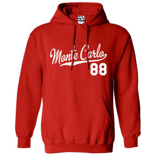 1988 Lowrider Sweatshirt  All Sizes Colors Monte Carlo 88 Script /& Tail HOODIE