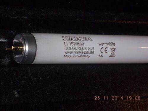 1 Leuchtstoffröhre warmweiss 15w Leuchtstoff-Lampe 15 w warmweiß Made in Germany