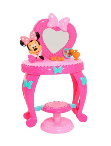 Minnie Mouse Vanity Table Play Set Light Up Girl Toddler Gift Pretend Toy New