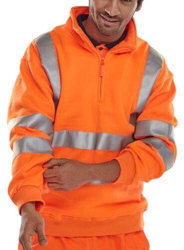 Warnschutzpullover Sweatshirt orange S-3XL Pullover Straßenbau Pulli BSZSSENOR