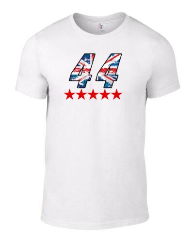 Lewis Hamilton Camiseta campeón F1 Grand Prix Racing 44 Mercedes Petronas