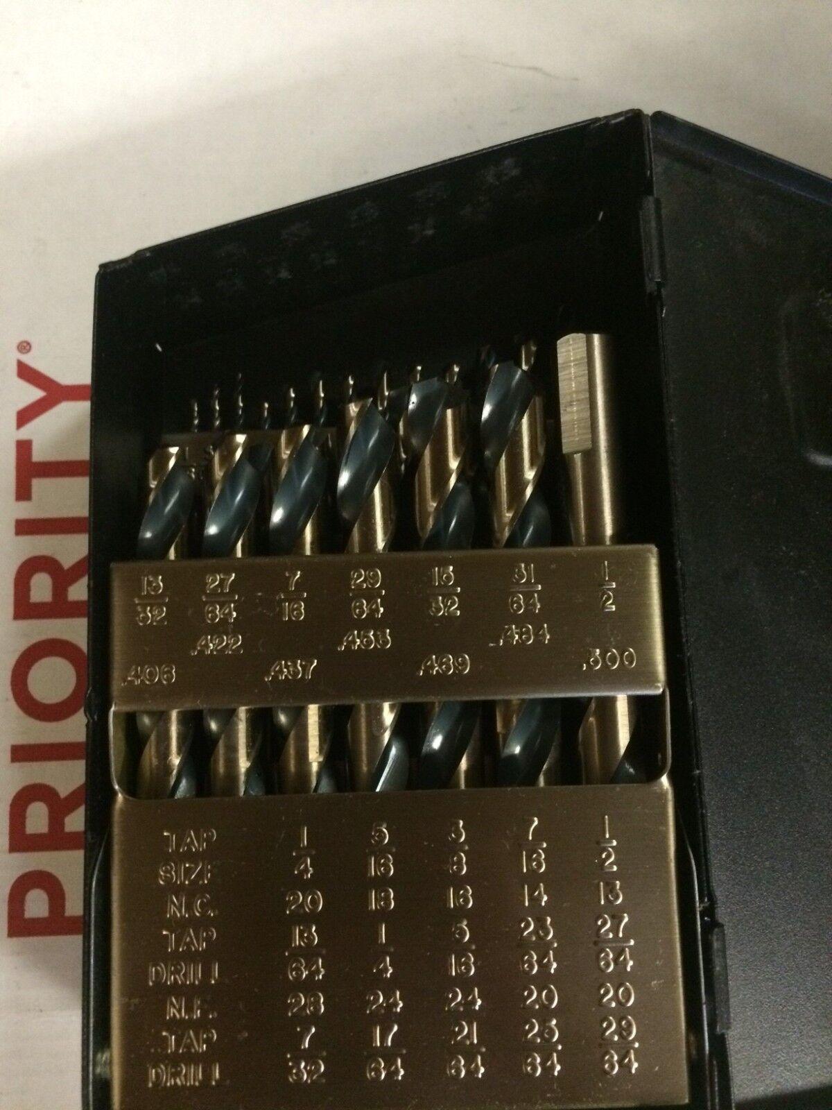 Norseman 29pc Hi-Molybdenum M7 Drill Bit Set W Index 1//16-1//2 made in USA SPM-29