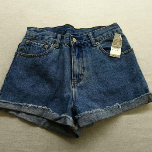 Med Womens Medium Blue Straight Leg Cut Off Denim Jean Shorts John Galt Sz XS