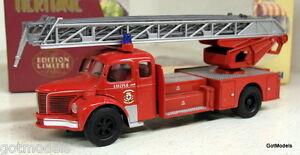 CORGI-1-50-73502-Berliet-GLR-grande-echelle-Marsiglia-FIRE-ENGINE