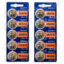 10 SONY CR2016 DL2016 CMOS Lithium 3V Watch Battery Exp 2024 Ships FREE from USA