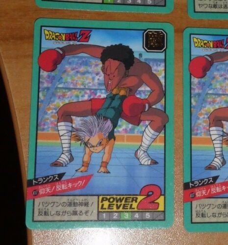 DRAGON BALL Z DBZ SUPER BATTLE PART 10 CARDDASS CARD CARTE 417 JAPAN 1994 **