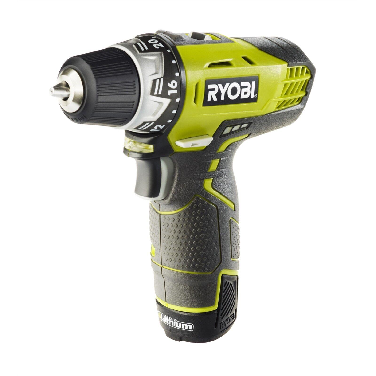 Ryobi 12V Cordless Drill Driver With 2 1.3Ah Batteries - Japan Brand