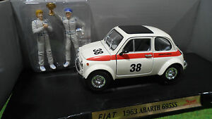 FIAT-ABARTH-695SS-38-2-FIGURINES-1-18-ROAD-SIGNATURE-92338-voiture-miniature