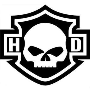 Harley Davidson Decal Motorcycle Skull Shield Logo Rear Window Bumper Sticker